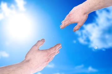 Die Hand reichen