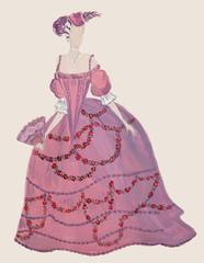 Robe d'époque Louis XVI