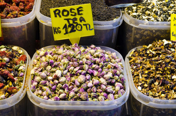 Rose tea in Egyptian Spice Bazaar