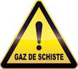 Panneau de danger jaune gaz de schiste (détouré)