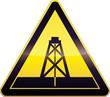 Panneau de danger jaune forage (détouré)