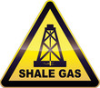 Yellow Drilling Shale Gas Warning Sign