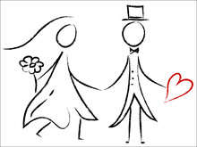 Ślub para - miłość, serce, ślub, szczęście