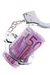 Euro Geldschein mit Handschellen