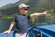 Little boy on boat trip