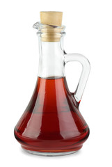 Decanter with red wine vinegar