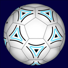Football with Blue and Black Decorations