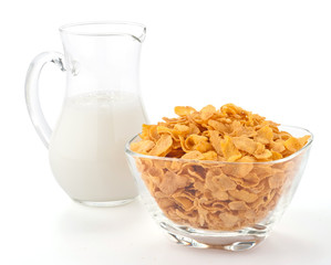 Corn flakes e latte