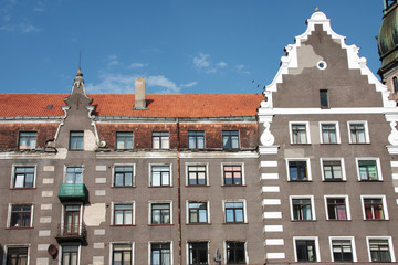 antico edificio a riga in lettonia