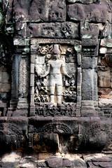 Statue Carving On Mandapa, Neak Pean, Cambodia