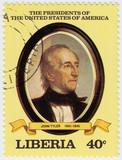 10th president of USA John Tyler poster