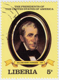 9th president of USA William Henry poster