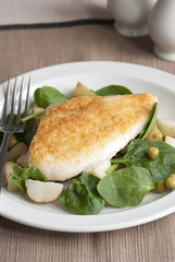 Parmesan chicken with spinach