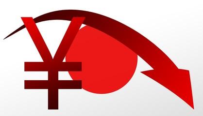 Yen  japanische Flagge
