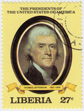 3rd president of USA Thomas Jefferson poster