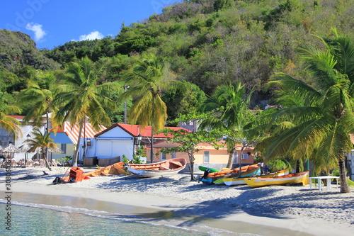 Fotobehang Caraïben Plage de pêcheurs - Martinique