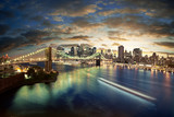 Fototapety Amazing New York cityscape - taken after sunset