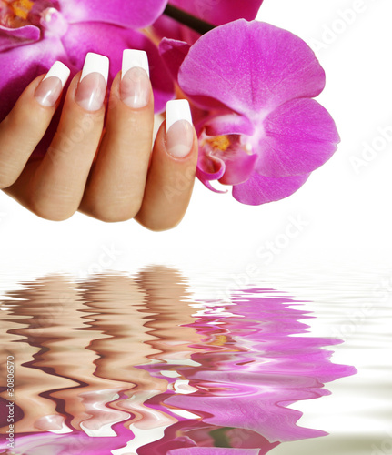 Orchidee mit Wasser
