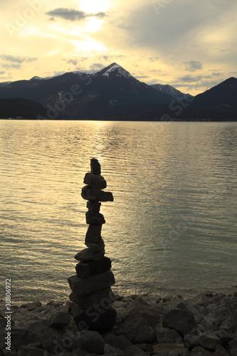 Foto op Plexiglas Landschappen Symbol am See