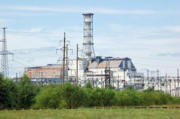 Chernobyl atomic power station, after nuclear catastrophe