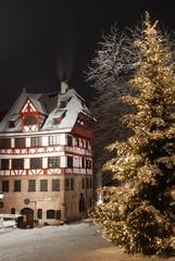 Weihnachten Nürnberg Albrecht Dürer Haus Christbaum Schnee