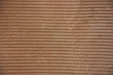 The brown corrugated  texture