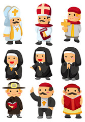 cartoon priest icon