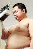Obese man poster