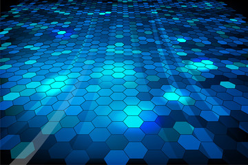 Blue shiny mosaic background - vector file