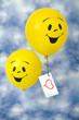 Fröhliche Luftballons mit Botschaft