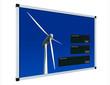 Windenergieanzeige - englisch - LCD mit Beschneidungspfad