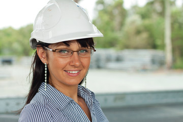 smiling young engineer woman