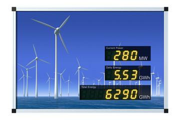 Windenergieanzeige - englisch
