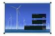 Windenergieanzeige - deutsch - LCD mit Beschneidungspfad