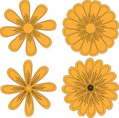 Нарисованные цветы