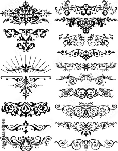 ornamental flourished dividers