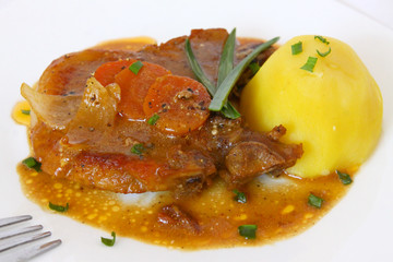 schweinekotelett  mit kartoffel