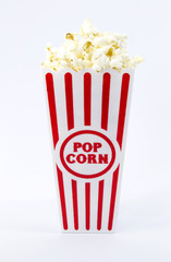 Popcorn in Red and White Container
