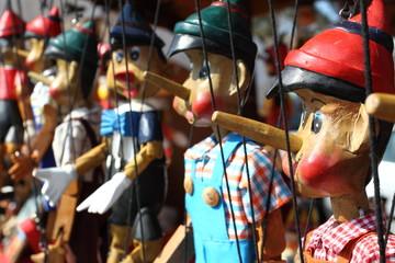 Hanging handmade marionette