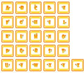 Alfabeto con fiori