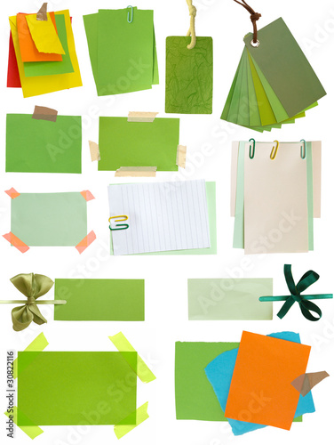 green notes and tags colletion