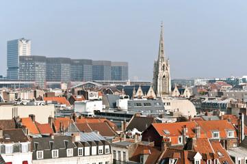 Vue des toits de Lille