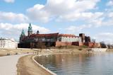 Weichsel Biegung mit Wawel Burg poster