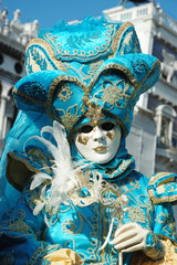 Mask at St. Mark's Square ,Venice carnival