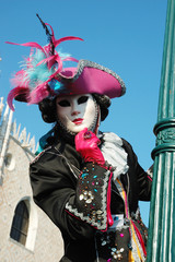 Lady in costume at carnival in Venice,Italy,2011