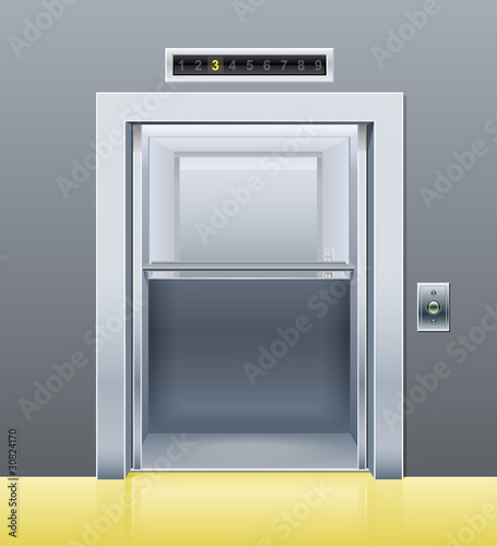 elevator with opened door