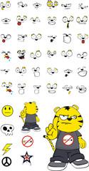 tiger plush kid cartoon set4