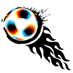 soccer ball with fireball
