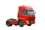 Red haulage truck