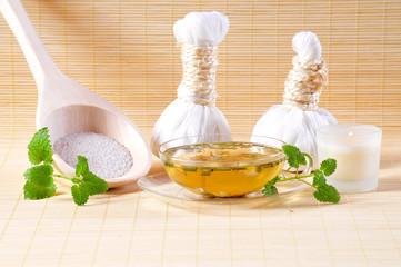 Kräuterstempel Wellness Kerze Tee